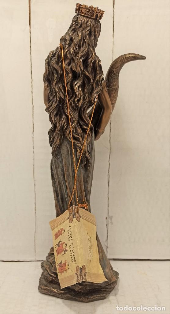 Arte: Figura Escultura Resina Veronese de Sigris (Bronce/Bronce Envejecido) Diosa romana Fortuna - Foto 3 - 234830555
