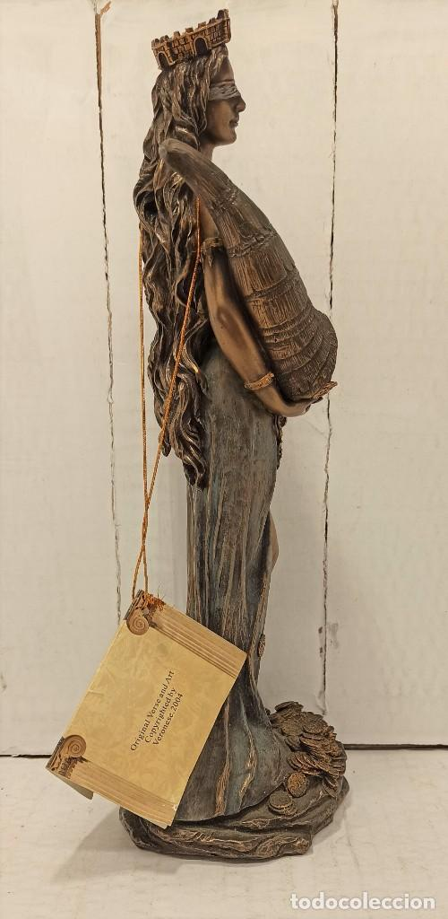 Arte: Figura Escultura Resina Veronese de Sigris (Bronce/Bronce Envejecido) Diosa romana Fortuna - Foto 4 - 234830555