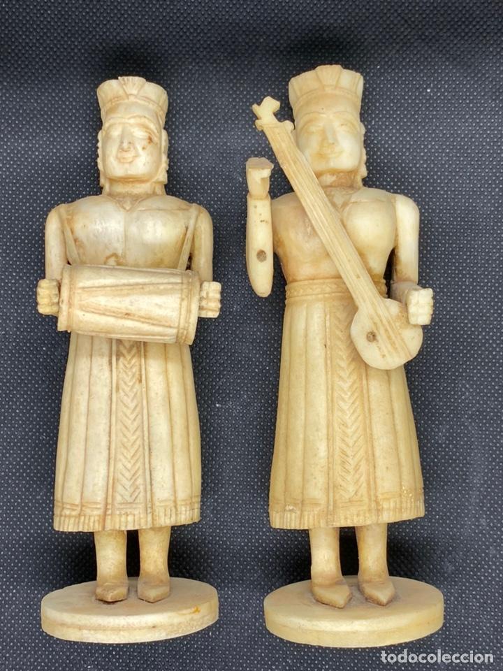 TALLAS COLONIALES GOA INDIA EN HUESO (Arte - Escultura - Hueso)