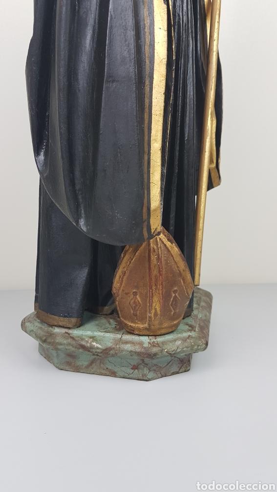 Arte: BONITA TALLA DE MADERA DE SAN BENITO. SIGLO XVIII. Medidas: 53 cm. - Foto 5 - 235340650