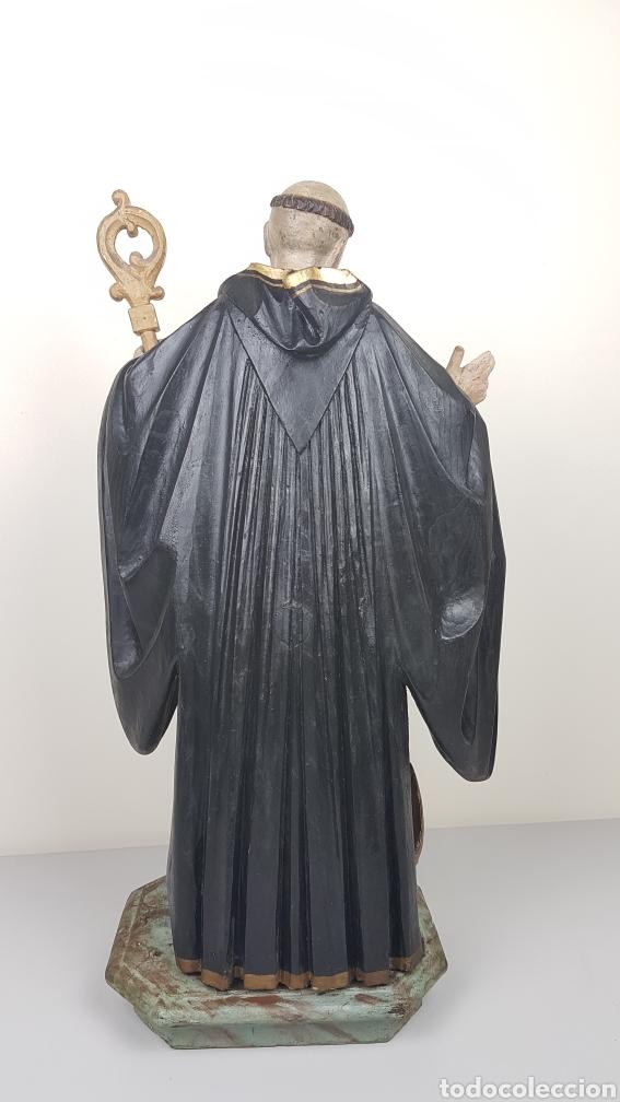 Arte: BONITA TALLA DE MADERA DE SAN BENITO. SIGLO XVIII. Medidas: 53 cm. - Foto 7 - 235340650