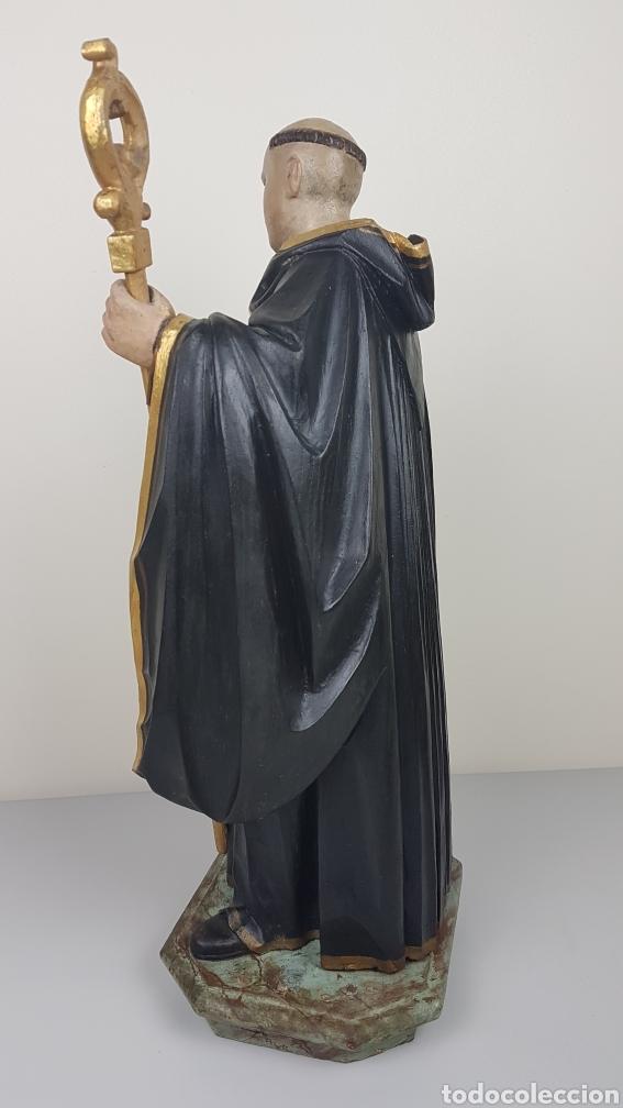 Arte: BONITA TALLA DE MADERA DE SAN BENITO. SIGLO XVIII. Medidas: 53 cm. - Foto 8 - 235340650