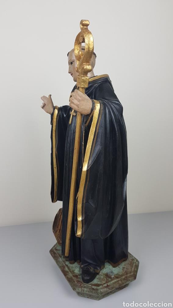 Arte: BONITA TALLA DE MADERA DE SAN BENITO. SIGLO XVIII. Medidas: 53 cm. - Foto 9 - 235340650