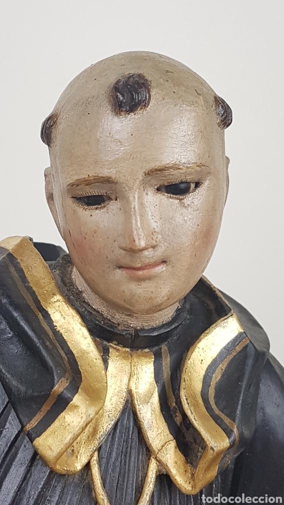 Arte: BONITA TALLA DE MADERA DE SAN BENITO. SIGLO XVIII. Medidas: 53 cm. - Foto 10 - 235340650