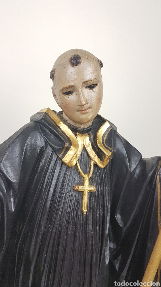 Arte: BONITA TALLA DE MADERA DE SAN BENITO. SIGLO XVIII. Medidas: 53 cm. - Foto 2 - 235340650