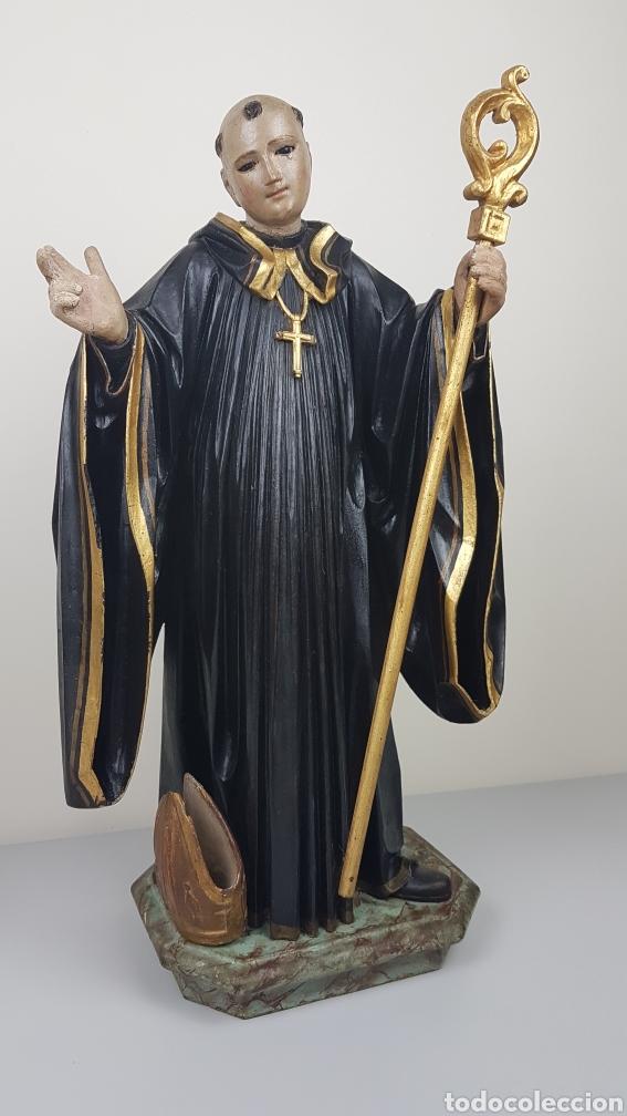 Arte: BONITA TALLA DE MADERA DE SAN BENITO. SIGLO XVIII. Medidas: 53 cm. - Foto 4 - 235340650