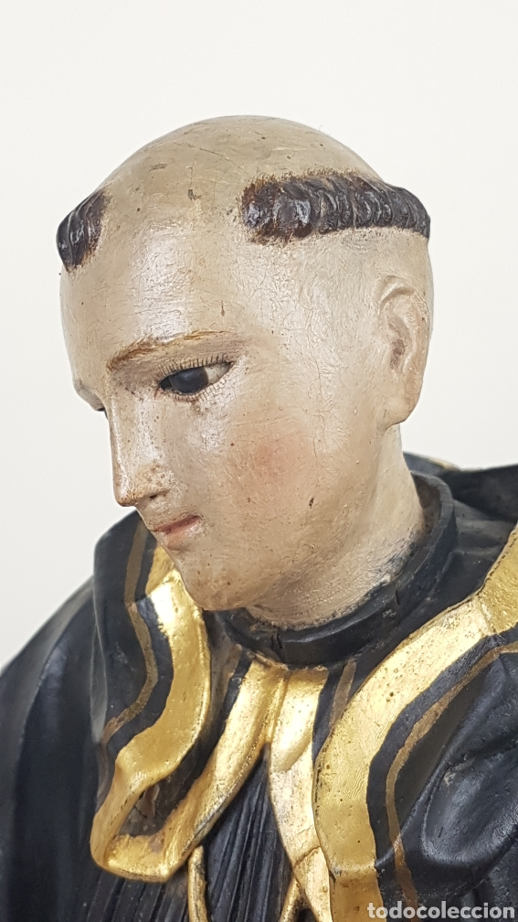 Arte: BONITA TALLA DE MADERA DE SAN BENITO. SIGLO XVIII. Medidas: 53 cm. - Foto 6 - 235340650