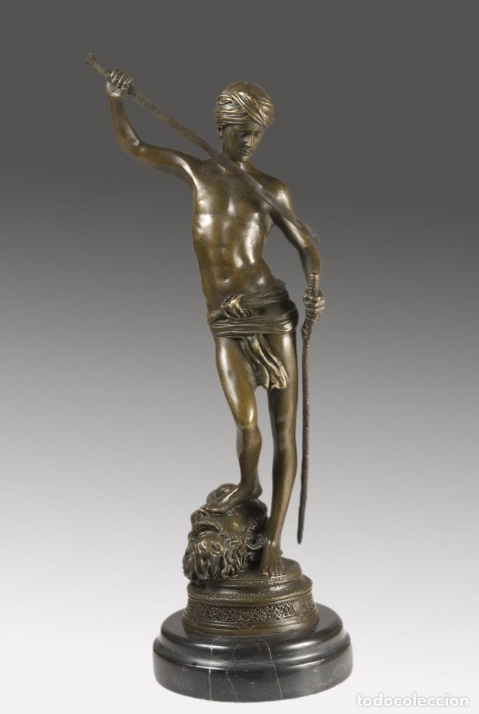 COPIA DEL DAVID DE ANTONIN MERCIÉ. ALTURA: 34 CM. PESO: 2 KG. (Arte - Escultura - Bronce)