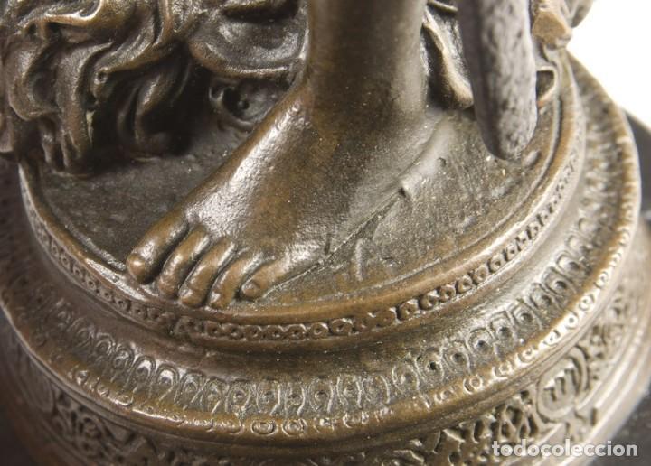 Arte: Copia del David de Antonin Mercié. Altura: 34 cm. Peso: 2 kg. - Foto 5 - 235479285