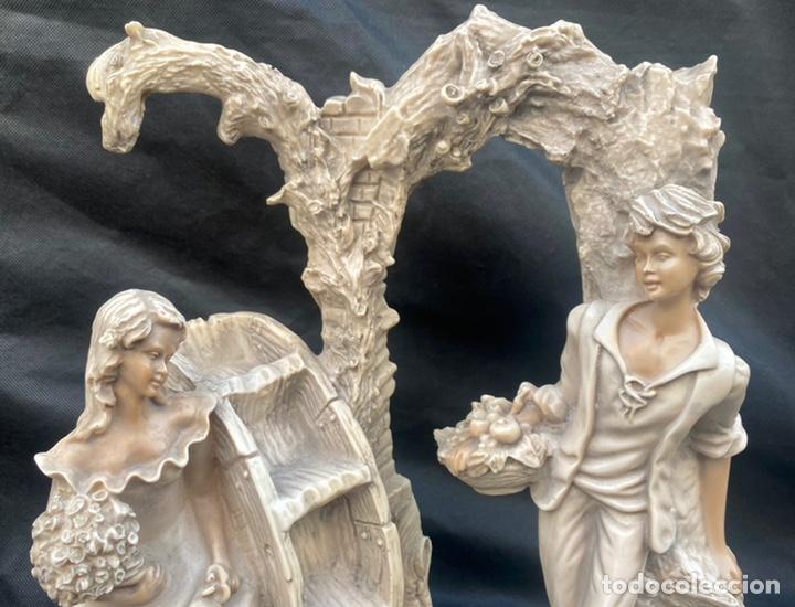 Arte: BRONCES PORTUGAL. Escultura pareja en el molino Bronces Portugal - Foto 2 - 235579885