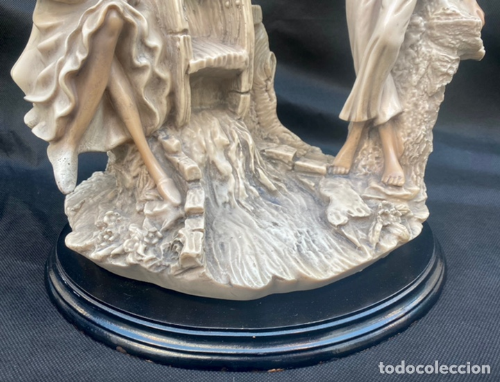 Arte: BRONCES PORTUGAL. Escultura pareja en el molino Bronces Portugal - Foto 3 - 235579885