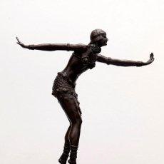 Arte: CHIPARUS - ART DECO - BRONCE Y MARMOL - DESPUES DE - C. 1930. Lote 235631365