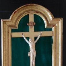 Arte: CRISTO Y ÁNGELES EN MARFIL. Lote 235726930