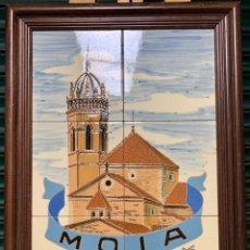 Arte: CUADRO DE AZULEJOS DE MOIÀ , 29,5X45 CM CON MARCO. Lote 235799735
