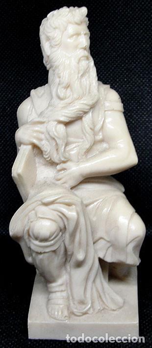 MOISES DE MIGUEL ANGEL - FIGURA DE RESINA CON MARMOLINA 12 CM - (Arte - Escultura - Resina)