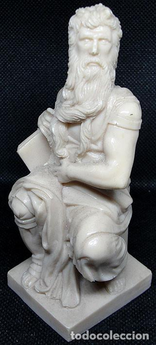 Arte: MOISES DE MIGUEL ANGEL - FIGURA DE RESINA CON MARMOLINA 12 CM - - Foto 3 - 235843145