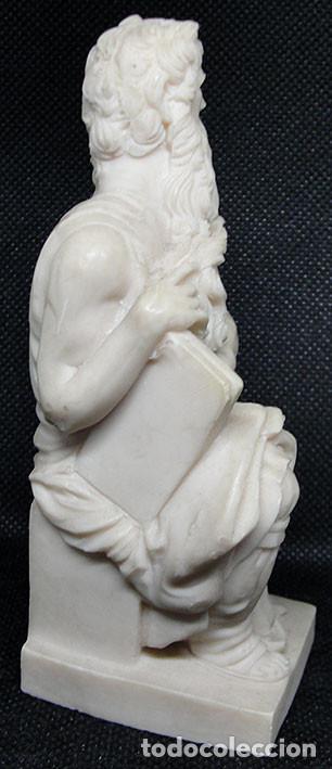 Arte: MOISES DE MIGUEL ANGEL - FIGURA DE RESINA CON MARMOLINA 12 CM - - Foto 4 - 235843145