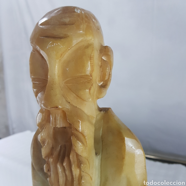 Arte: Monje Budista esculpido en Alabastro princ. S.XX - Foto 8 - 235977415