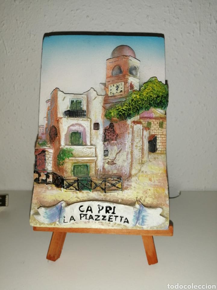 BALDOSA ITALIANA DECORATIVA EN RELIEVE 3D. (Arte - Escultura - Resina)