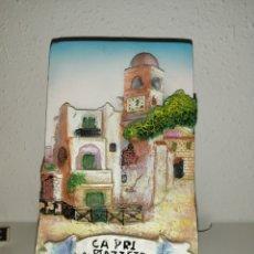 Arte: BALDOSA ITALIANA DECORATIVA EN RELIEVE 3D.. Lote 236274795