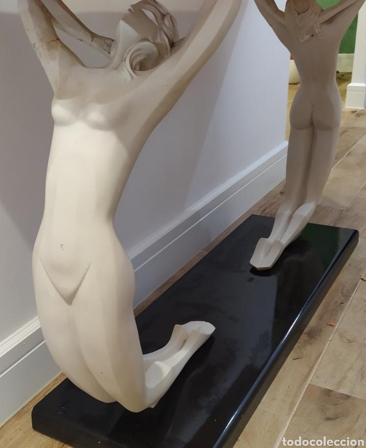 Arte: Mesa/Entradita/Recibidor Antiguo Figuras de Mujeres en Resina. - Foto 4 - 236430315