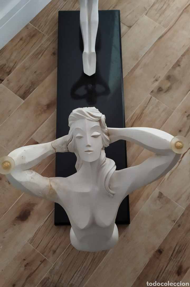 Arte: Mesa/Entradita/Recibidor Antiguo Figuras de Mujeres en Resina. - Foto 17 - 236430315