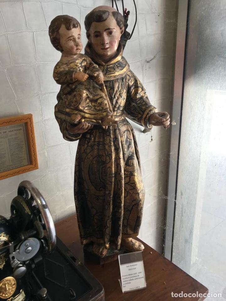 SAN ANTONIO SIGLO XVII (Arte - Escultura - Madera)