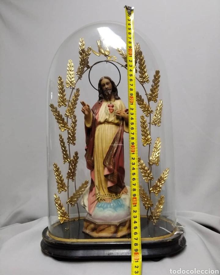 Arte: Fanal con Imagen de Sagrado Corazón Olot - Foto 3 - 236818955