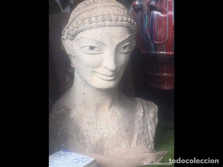 BUSTO DE PIEDRA 85X85X50CM(PIEZA PARA RECOGER EN MALLORCA) (Arte - Escultura - Piedra)