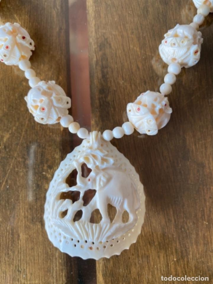 Arte: Collar decoración de elefantes y cuentas de marfil - Foto 10 - 238443180