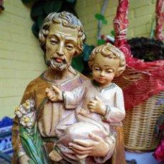 Arte: FIGURA DE SAN JOSÉ CON NIÑO JESÚS. Lote 239442725