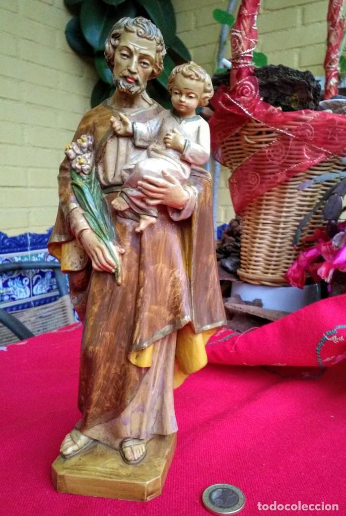 Arte: Figura de San José con niño Jesús - Foto 2 - 239442725