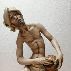 Arte: FINA Y ANTIGUA ESCULTURA DE BABA HINDÚ. Lote 239884065