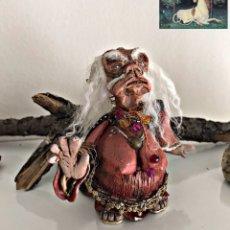 Arte: OOAK ARTESANÍA PORCELANA FRÍA. MADRE AUGHRA. DARK CRYSTAL CRISTAL OSCURO. JIM HEMSON. Lote 240012850