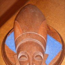 Arte: CARA DE MADERA AFRICANA PARA COLGAR.. Lote 240039830