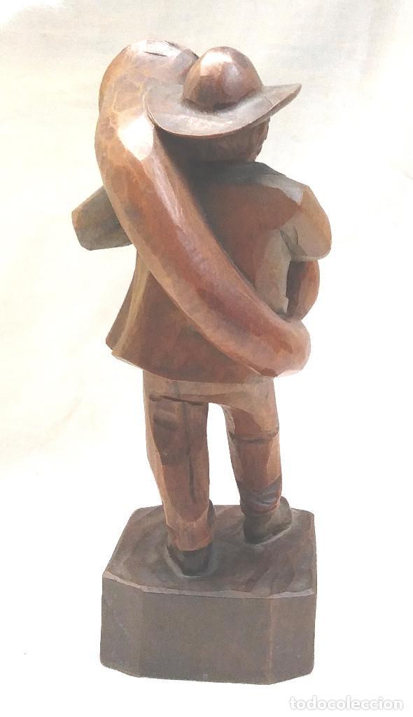 Arte: Musico Tuba talla de madera. Med. 19 cm - Foto 3 - 241234935