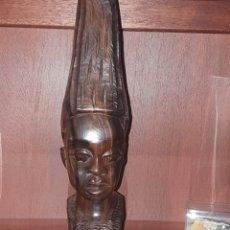 Arte: TALLA AFRICANA SIGLO 19 EN MADERA TALLADA A MANO. Lote 242492280
