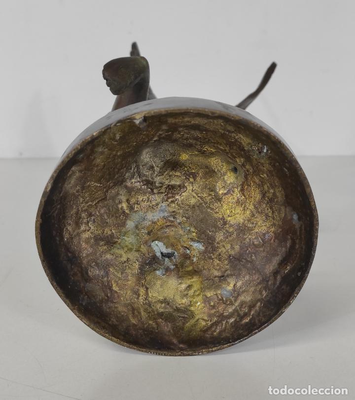 Arte: Preciosa Escultura - Ángel Querubín - Figura en Bronce Cincelado - Altura 35 cm - Foto 9 - 243536465