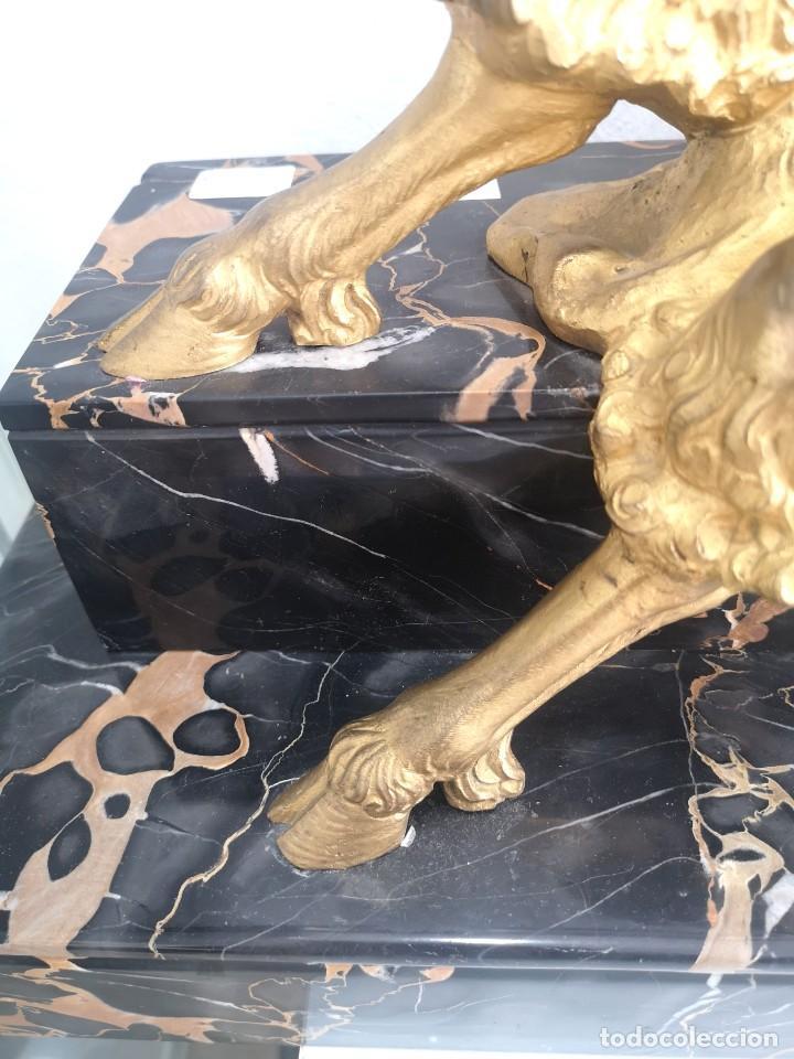 Arte: Art Deco Escultura Fauno Y Ciervo Bronce Mármol Autor Bouraine Tamaño Majestuoso - Foto 9 - 234978655