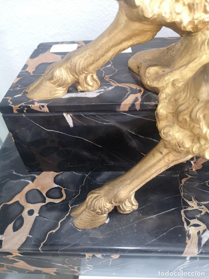 Arte: Art Deco Escultura Fauno Y Ciervo Bronce Mármol Autor Bouraine Tamaño Majestuoso - Foto 15 - 234978655