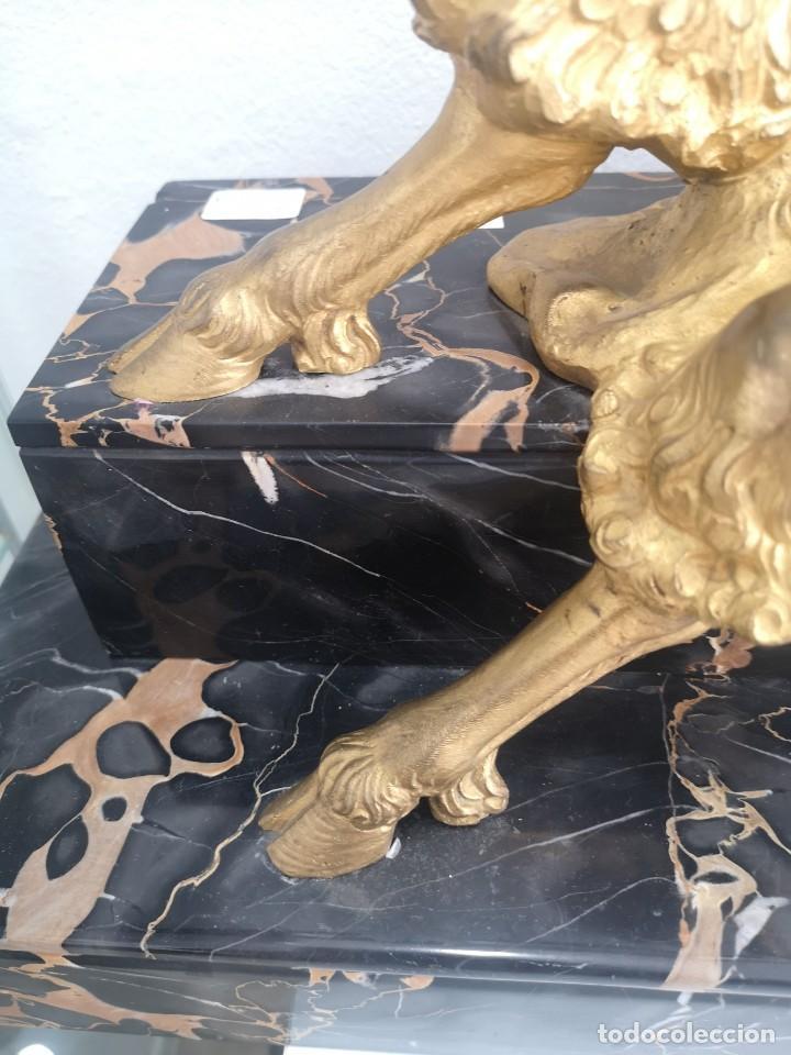 Arte: Art Deco Escultura Fauno Y Ciervo Bronce Mármol Autor Bouraine Tamaño Majestuoso - Foto 17 - 234978655