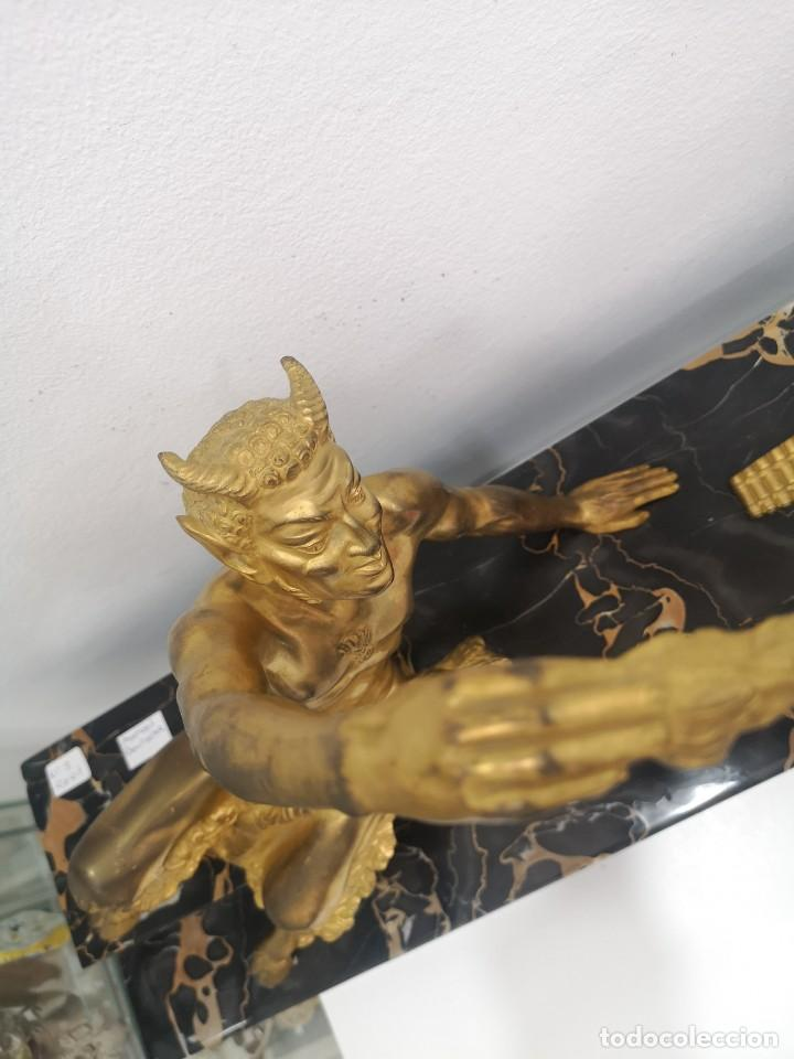 Arte: Art Deco Escultura Fauno Y Ciervo Bronce Mármol Autor Bouraine Tamaño Majestuoso - Foto 20 - 234978655