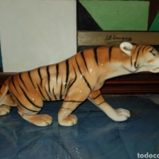 Arte: TIGRE DE ROYAL DUX, (ANTIGUA CHECOSLOVAQUIA). Lote 243807630