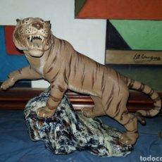 Arte: ESPECTACULAR TIGRE-LEON, DE GRESPORCELANICO.SIN MARCA. Lote 243809890