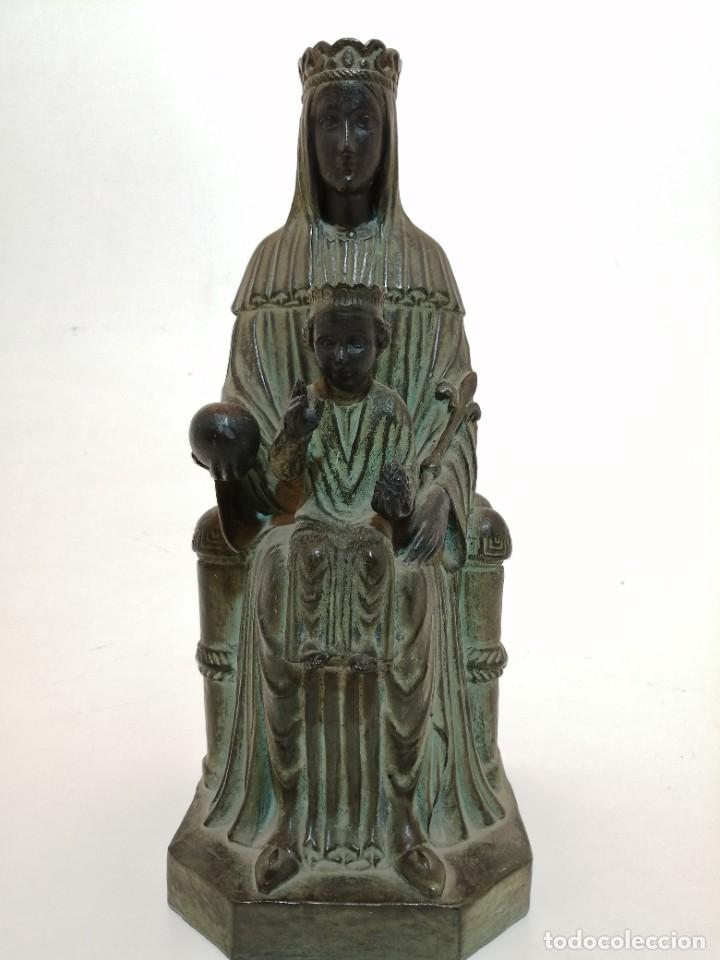 VIRGEN TERRACOTA IMITANDO BRONCE, (CERAMICA MARCO QUART, GIRONA), (36 CM. ALTO), AÑOS 30-40 (Arte - Escultura - Terracota )