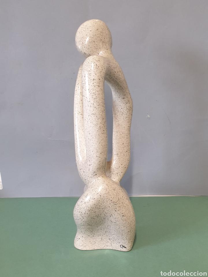 Arte: Escultura Abstracta de Cerámica Manises Firmada CHz - Foto 2 - 244673880