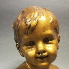 Arte: TERRACOTA CON ESTUCO BABY NOVELLA FIRMADO CLARIANI J B PARIS NUMERADA. Lote 245028480