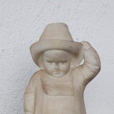 Arte: UMBERTO BIAGINI (ESCUELA ITALIANA SIGLO XIX) - NIÑO CON SOMBRERO - ALABASTRO - PRECIOSO.. Lote 245128075