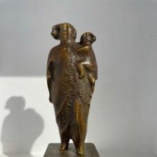 Arte: XOSÉ CID. (OURENSE 1946). MATERNIDAD. BRONCE.. Lote 245431335