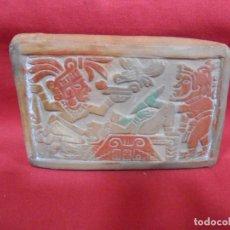 Arte: CURIOSO SELLO DE LACRE CULTURA AZTECA O MAYA EN TERRACOTA. Lote 245446140